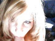 Drallige Blondine macht ihren eigenen Porno