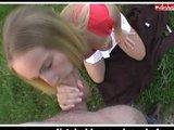 Nach geilem Blowjob wird die Blondine gefickt